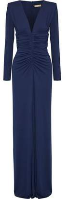 Michael Kors Ruched Stretch-Jersey Gown