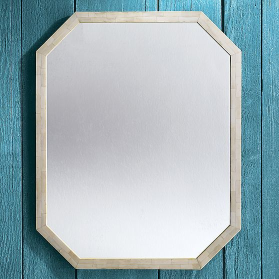 Tiled Bone Wall Mirror