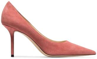 Jimmy Choo Dusty Pink Love 85 suede pumps