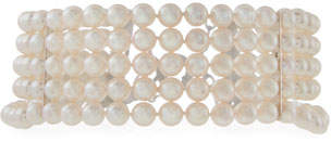 Assael Five-Row Akoya Pearl Choker Necklace