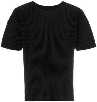 Issey Miyake Homme Plissé pleated short sleeve t-shirt