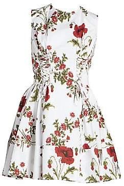 Alexander McQueen Women's Floral Fit-&-Flare Dress