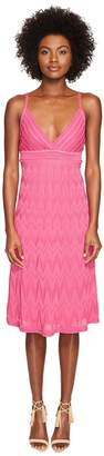 M Missoni Solid Knit Skinny Strap Dress Women's Dress