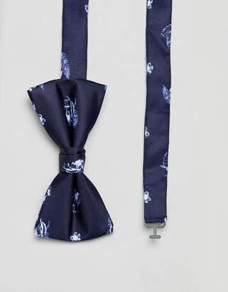 Jack and Jones Bow Tie With Floral Print