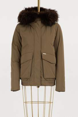 Woolrich Short fur-lined bomber jacket