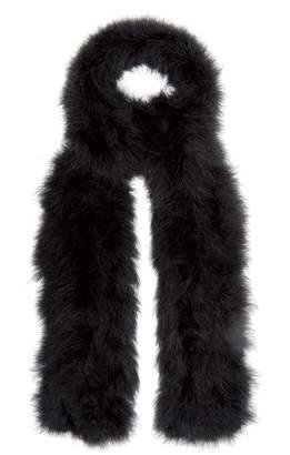 Yves Salomon Long feather scarf