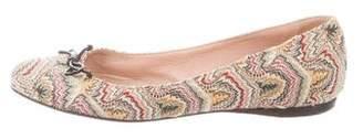 Missoni Leather Round-Toe Flats