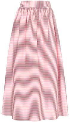 Mara Hoffman Katherine stripe print cotton flared skirt
