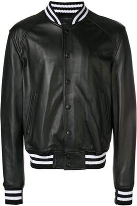 Diesel Black Gold leather bomber jacket