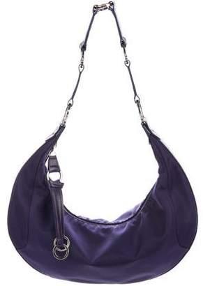 Longchamp Leather-Trimmed Nylon Hobo Bag