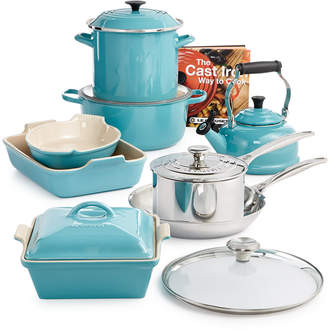Le Creuset Multi-Materials Turquoise 14-Pc. Cookware Set