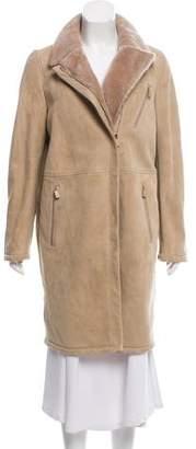 Loro Piana Knee-Length Shearling Coat
