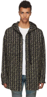 Faith Connexion Black and Gold Tweed Overshirt