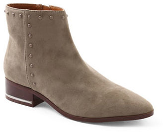 Kensie Francisco Microsuede Studded Ankle Boots $99 thestylecure.com
