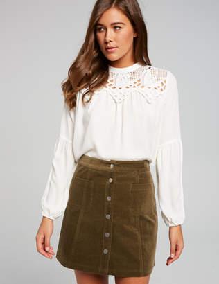 Dotti Strike A Cord Aline Mini Skirt