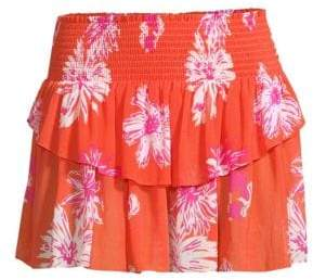 Ramy Brook Lucia Floral Mini Skirt