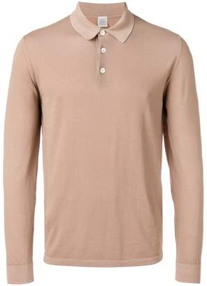 Eleventy long-sleeved polo shirt