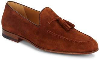 Magnanni Suede Tassel Loafers