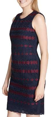 Calvin Klein Geometric Embroidered Dress