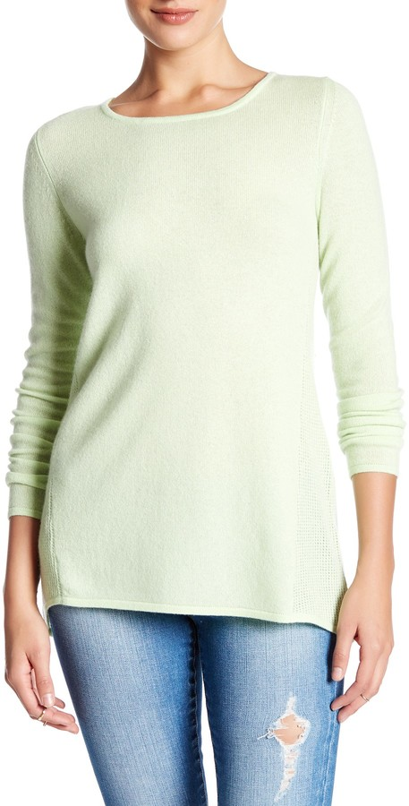 Kinross Swing Crew Cashmere Sweater 2