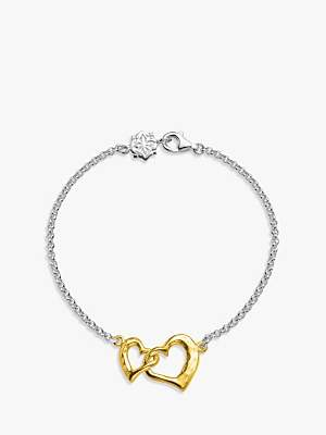 Dower & Hall Entwined Love Hearts Bracelet