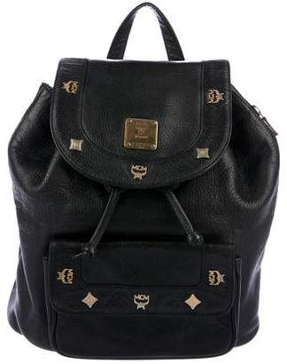 MCM Grained Leather Backpack