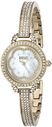 Badgley Mischka Women's BA/1342WMGB Swarovski Crystal-Accented Bracelet Watch