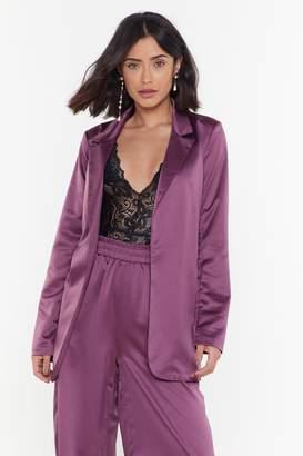Nasty Gal Womens 3 Piece Co-Ord Blazer - Purple - 6, Purple