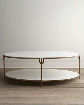 Global Views Olivia Marble-Top Coffee Table