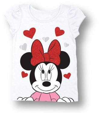Minnie Mouse Baby Toddler Girl Hearts Short Sleeve T-Shirt