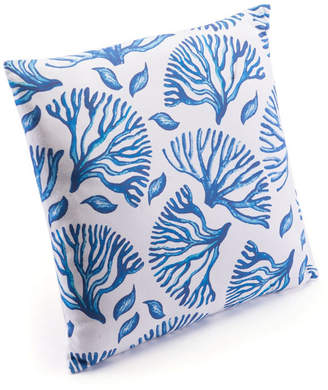 ZUO Blue Coral Pillow Blue & White