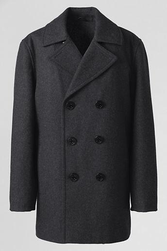 Lands' End Men's Wool Pea Coat