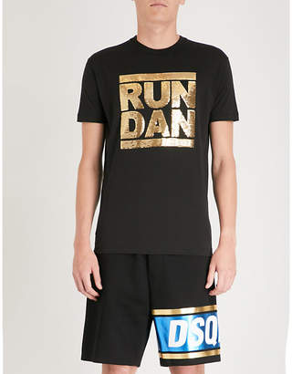 DSQUARED2 Run Dan cotton-jersey T-shirt