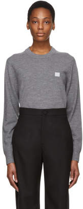 Acne Studios Grey Nalon Face Sweater
