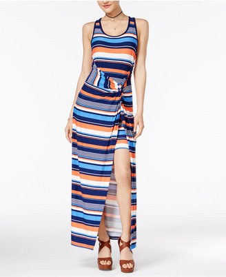 Planet Gold Striped Twist-Waist Dress $39 thestylecure.com