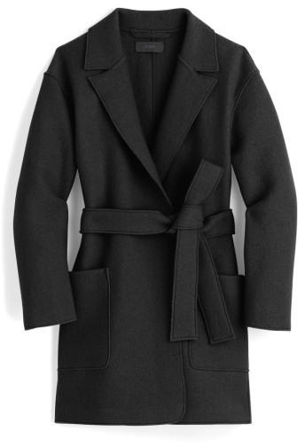 Petite Women's J.crew Sabrina Boiled Wool Wrap Coat