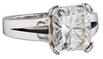 3.71ct Cushion Cut Diamond Engagement Ring