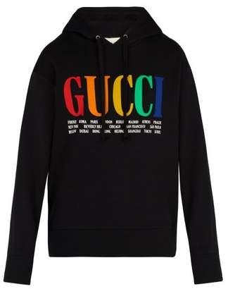 Gucci Rainbow Cities Hooded Sweatshirt - Mens - Black