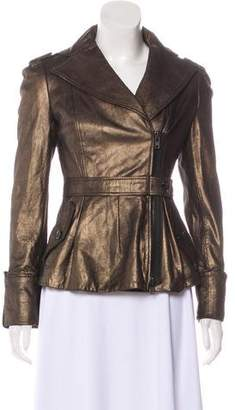 Diane von Furstenberg Nick Metallic Leather Jacket