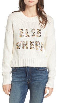 Women's Wildfox Elsewhere Embellished Sweater $210 thestylecure.com