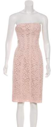 J. Mendel Lace Strapless Dress w/ Tags Pink Lace Strapless Dress w/ Tags