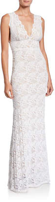 Nightcap Clothing Perfect Plunge-Neck Sleeveless Lace Maxi Dress