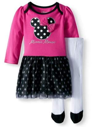 Minnie Mouse Long Sleeve Tutu Tunic & Leggings, 2-Piece Outfit Set (Baby Girls)