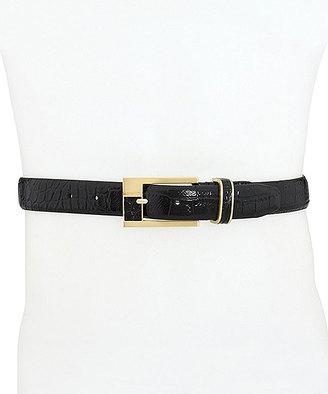 Cognac Bornback & Croc-Embossed Leather Belt $11 thestylecure.com