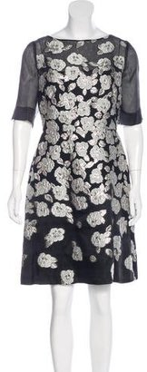 Lela Rose Brocade Floral Dress w/ Tags $495 thestylecure.com