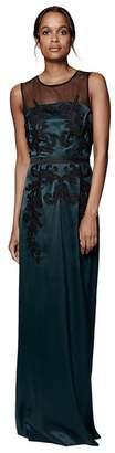 Phase Eight Pine And Black Gallia Embellished Full Length Dress