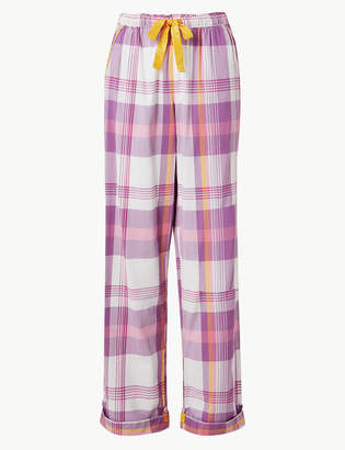 d2c5929d923e M&S CollectionMarks and Spencer Cotton Rich Printed Pyjama Bottoms