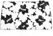 Nancy Gonzalez Crocodile Floral Slicer Clutch
