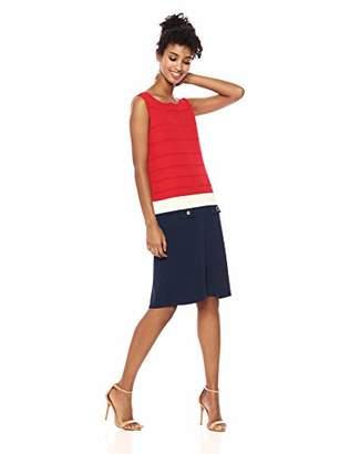 Anne Klein Women's Sleeveless Sheath Sweater Dress