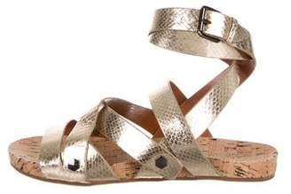 Rebecca Minkoff Embossed Multistrap Sandals